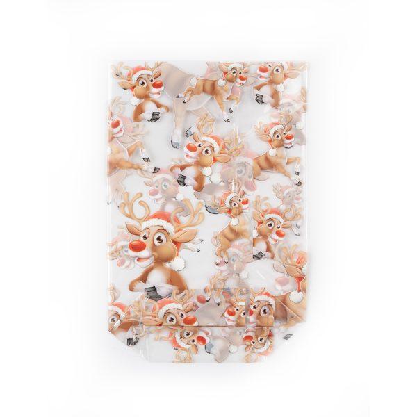 "Christmas print ""Rudolf"" OPP bag"