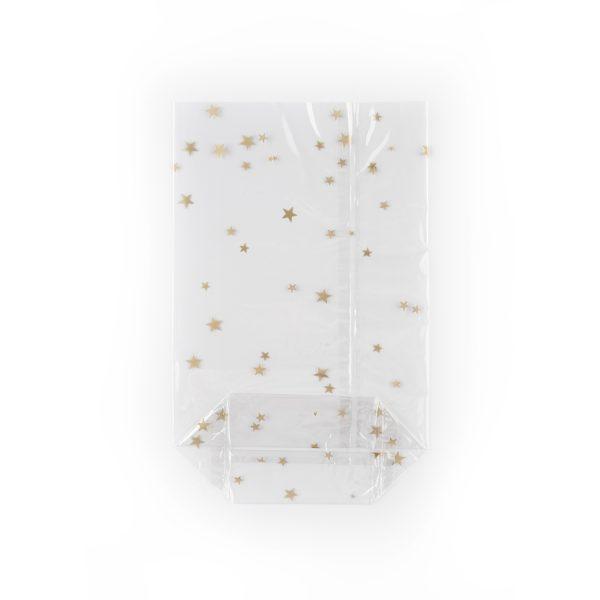 Transparent OPP bag with golden stars