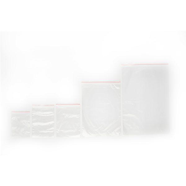 Transparent resealable zipper bag