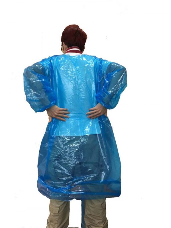 Patented 'EasyTear' impervious gowns provides both front & back protection