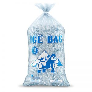 Heavy duty printed ice bags for retail
