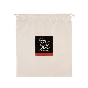 White PE hotel laundry bag