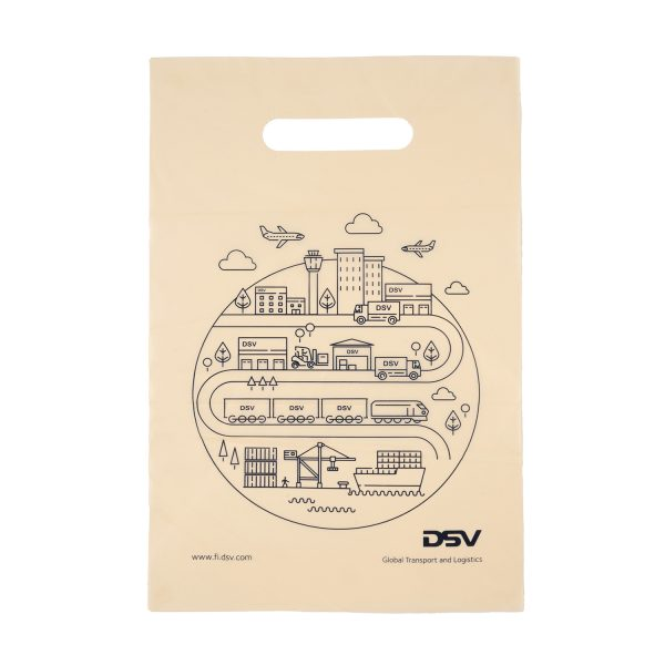 Natural color OK Compost certified carrier bags