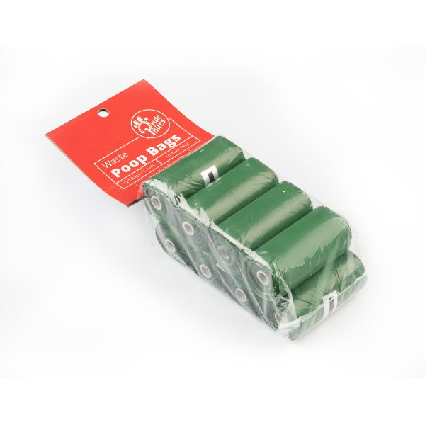 Green poop bag, 8 roll pack
