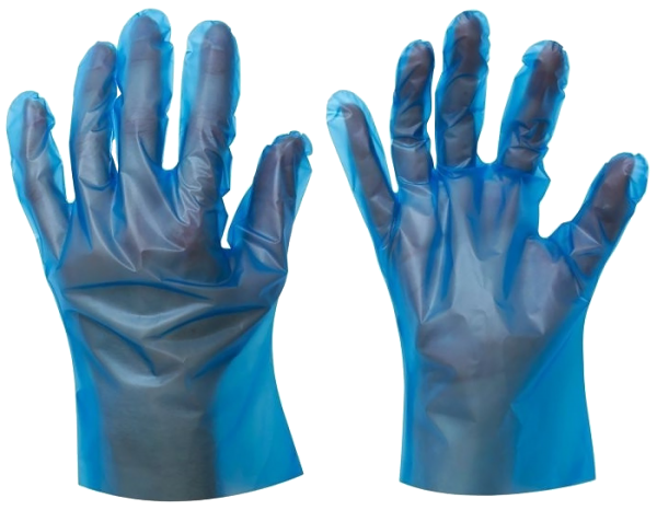 Blue TPE gloves